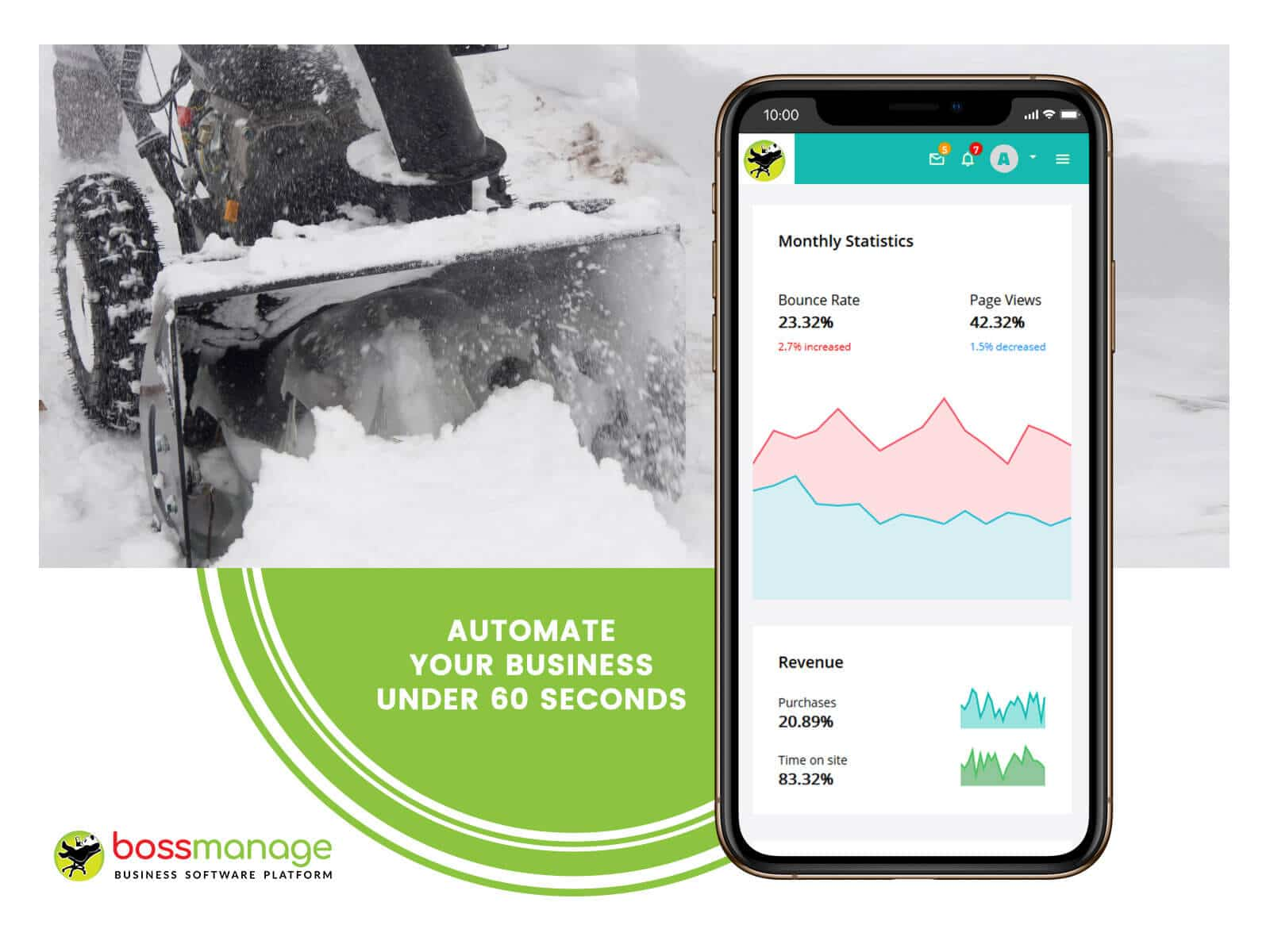 dispatch scheduling software free, direct connect field services reviews, Snow Removal management system, BossManage