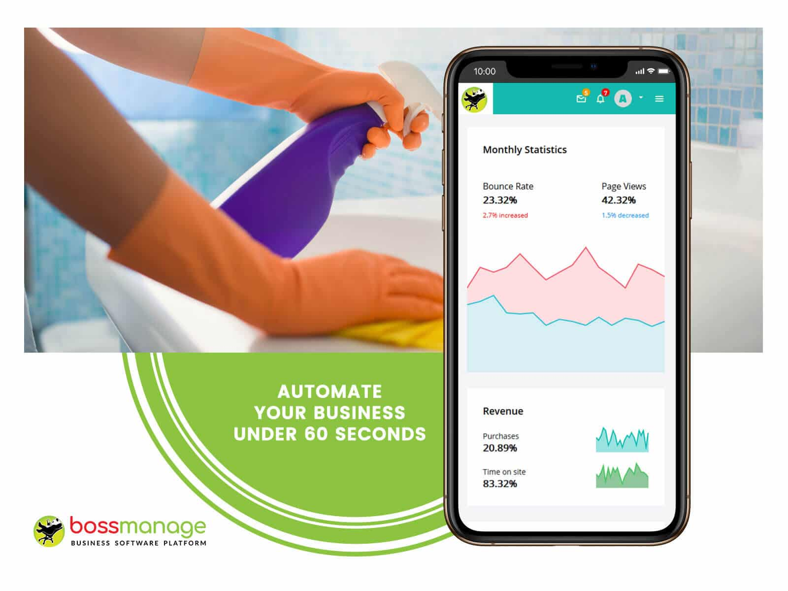 best service scheduling software, Residential cleaning management system, BossManage